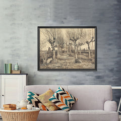 Ezposterprints - Pollard Birches | Van Gogh Art Reproduction - 48x36 ambiance display photo sample