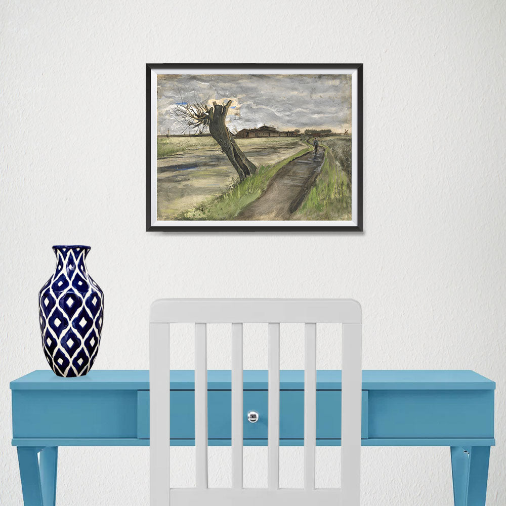 Ezposterprints - Pollard Willow | Van Gogh Art Reproduction - 16x12 ambiance display photo sample