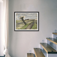Ezposterprints - Pollard Willow | Van Gogh Art Reproduction - 24x18 ambiance display photo sample
