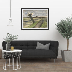 Ezposterprints - Pollard Willow | Van Gogh Art Reproduction - 32x24 ambiance display photo sample