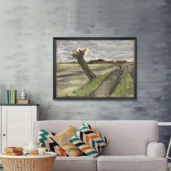 Ezposterprints - Pollard Willow | Van Gogh Art Reproduction - 48x36 ambiance display photo sample