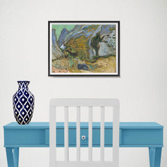 Ezposterprints - Ravine With A Small Stream | Van Gogh Art Reproduction - 16x12 ambiance display photo sample