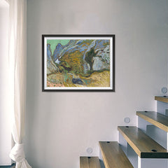 Ezposterprints - Ravine With A Small Stream | Van Gogh Art Reproduction - 24x18 ambiance display photo sample