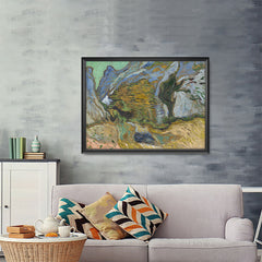 Ezposterprints - Ravine With A Small Stream | Van Gogh Art Reproduction - 48x36 ambiance display photo sample