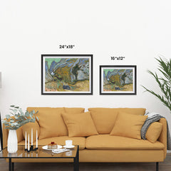 Ezposterprints - Ravine With A Small Stream | Van Gogh Art Reproduction ambiance display photo sample