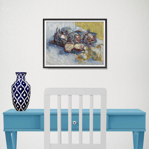 Ezposterprints - Red Cabbages And Onions | Van Gogh Art Reproduction - 16x12 ambiance display photo sample