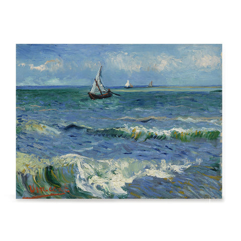 Ezposterprints - Seascape Near Les Saintes | Van Gogh Art Reproduction