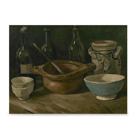 Ezposterprints - Still Life With Earthenware And Bottles | Van Gogh Art Reproduction