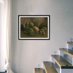 Ezposterprints - Still Life With Vegetables And Fruit | Van Gogh Art Reproduction - 24x18 ambiance display photo sample