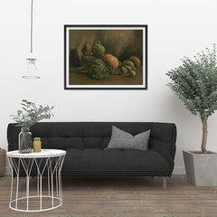 Ezposterprints - Still Life With Vegetables And Fruit | Van Gogh Art Reproduction - 32x24 ambiance display photo sample