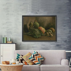 Ezposterprints - Still Life With Vegetables And Fruit | Van Gogh Art Reproduction - 48x36 ambiance display photo sample