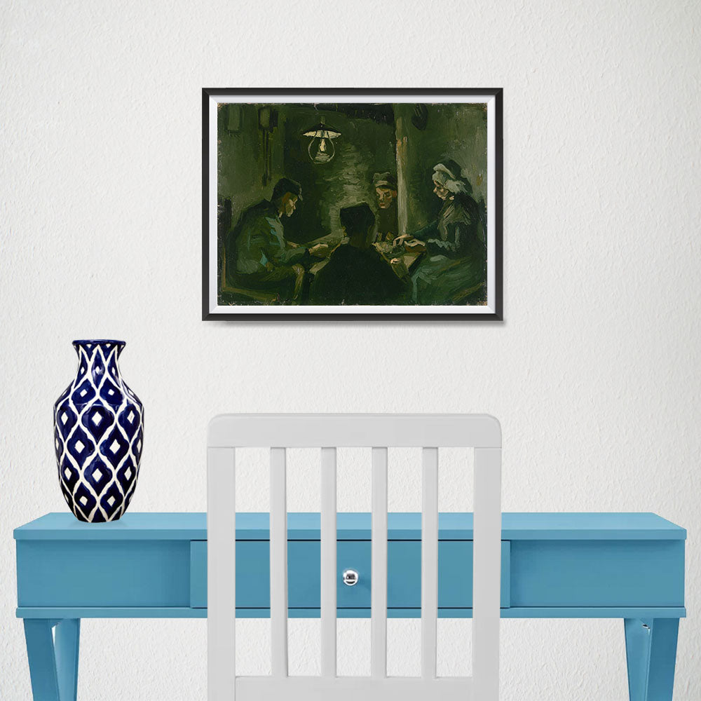 Ezposterprints - Study For The Potato Eaters | Van Gogh Art Reproduction - 16x12 ambiance display photo sample