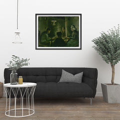 Ezposterprints - Study For The Potato Eaters | Van Gogh Art Reproduction - 32x24 ambiance display photo sample