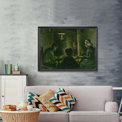 Ezposterprints - Study For The Potato Eaters | Van Gogh Art Reproduction - 48x36 ambiance display photo sample