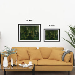 Ezposterprints - Study For The Potato Eaters | Van Gogh Art Reproduction ambiance display photo sample