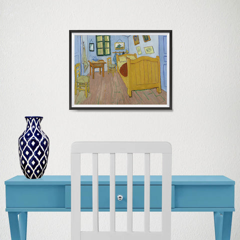 Ezposterprints - The Bedroom | Van Gogh Art Reproduction - 16x12 ambiance display photo sample