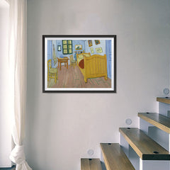 Ezposterprints - The Bedroom | Van Gogh Art Reproduction - 24x18 ambiance display photo sample