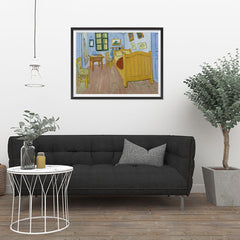 Ezposterprints - The Bedroom | Van Gogh Art Reproduction - 32x24 ambiance display photo sample