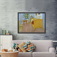 Ezposterprints - The Bedroom | Van Gogh Art Reproduction - 48x36 ambiance display photo sample