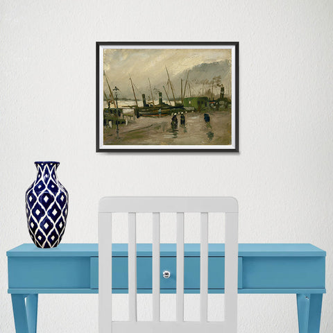 Ezposterprints - The De Ruijterkade In Amsterdam | Van Gogh Art Reproduction - 16x12 ambiance display photo sample