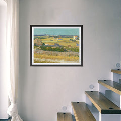 Ezposterprints - The Harvest | Van Gogh Art Reproduction - 24x18 ambiance display photo sample