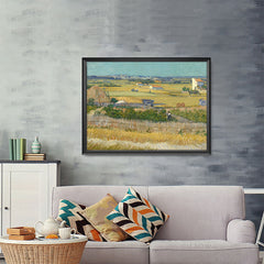 Ezposterprints - The Harvest | Van Gogh Art Reproduction - 48x36 ambiance display photo sample