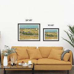 Ezposterprints - The Harvest | Van Gogh Art Reproduction ambiance display photo sample