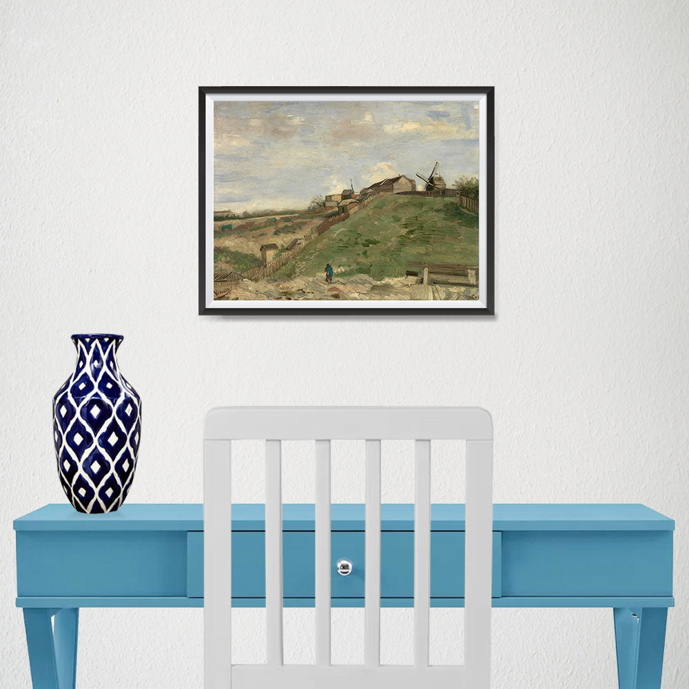 Ezposterprints - The Hill Of Montmartre With Stone Quarry 2 | Van Gogh Art Reproduction - 16x12 ambiance display photo sample