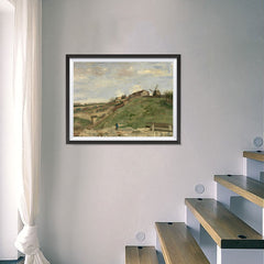 Ezposterprints - The Hill Of Montmartre With Stone Quarry 2 | Van Gogh Art Reproduction - 24x18 ambiance display photo sample