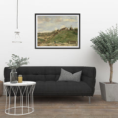 Ezposterprints - The Hill Of Montmartre With Stone Quarry 2 | Van Gogh Art Reproduction - 32x24 ambiance display photo sample