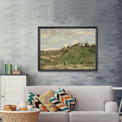 Ezposterprints - The Hill Of Montmartre With Stone Quarry 2 | Van Gogh Art Reproduction - 48x36 ambiance display photo sample