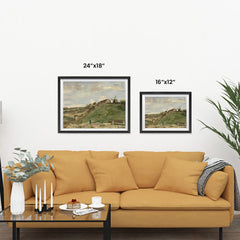 Ezposterprints - The Hill Of Montmartre With Stone Quarry 2 | Van Gogh Art Reproduction ambiance display photo sample