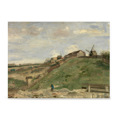 Ezposterprints - The Hill Of Montmartre With Stone Quarry 2 | Van Gogh Art Reproduction