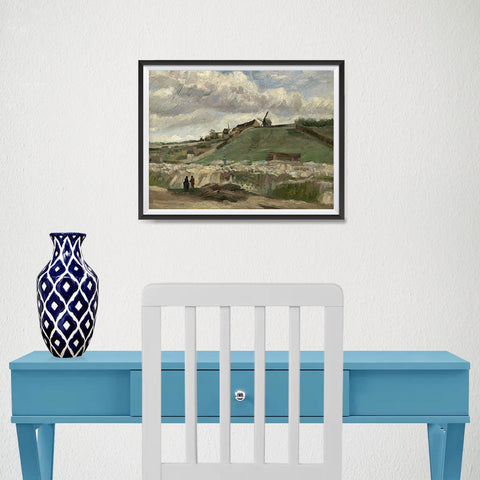 Ezposterprints - The Hill Of Montmartre With Stone Quarry | Van Gogh Art Reproduction - 16x12 ambiance display photo sample
