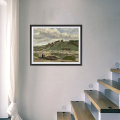 Ezposterprints - The Hill Of Montmartre With Stone Quarry | Van Gogh Art Reproduction - 24x18 ambiance display photo sample