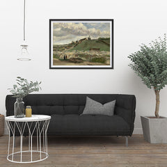 Ezposterprints - The Hill Of Montmartre With Stone Quarry | Van Gogh Art Reproduction - 32x24 ambiance display photo sample