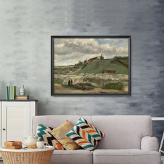 Ezposterprints - The Hill Of Montmartre With Stone Quarry | Van Gogh Art Reproduction - 48x36 ambiance display photo sample