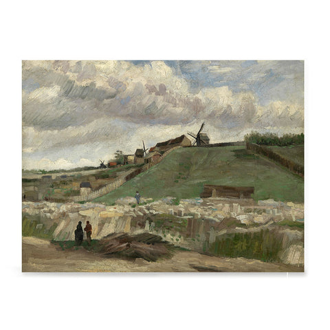 Ezposterprints - The Hill Of Montmartre With Stone Quarry | Van Gogh Art Reproduction