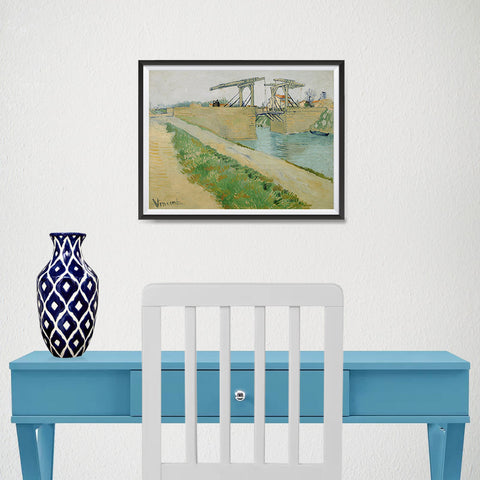 Ezposterprints - The Langlois Bridge | Van Gogh Art Reproduction - 16x12 ambiance display photo sample