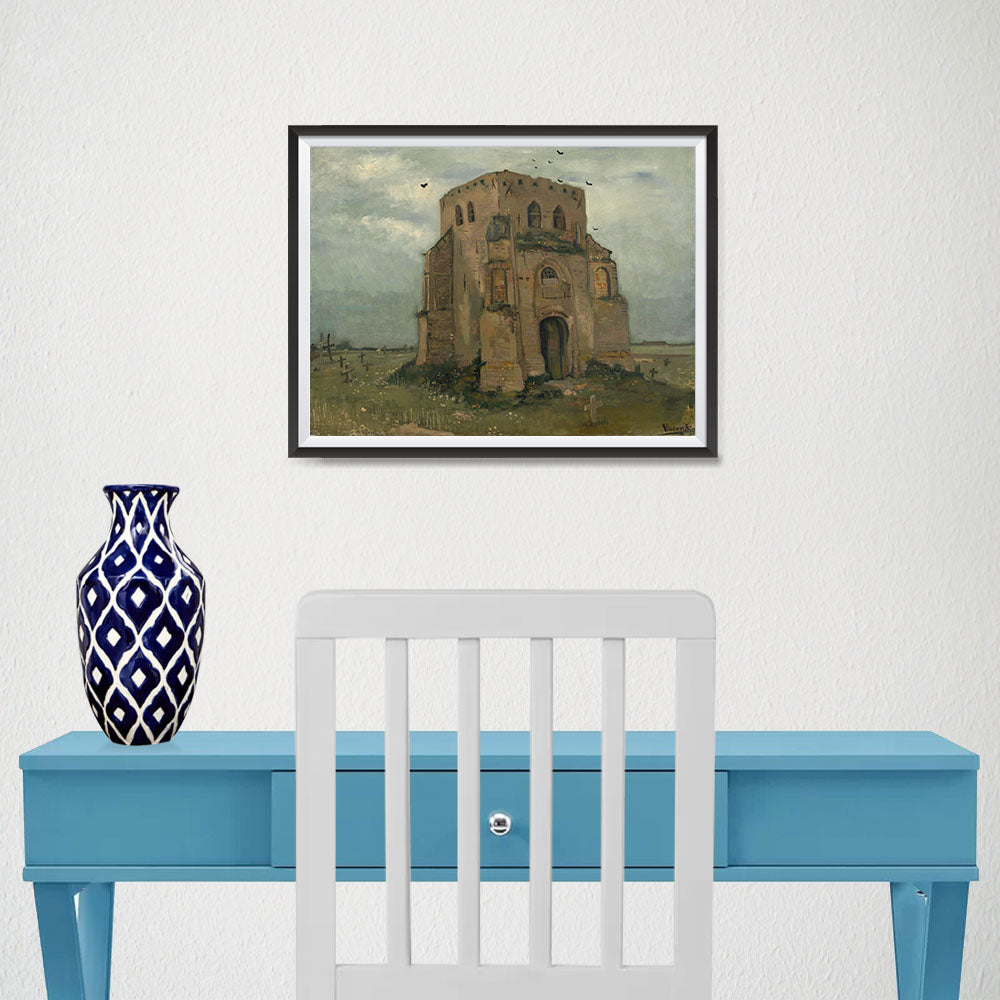 Ezposterprints - The Old Church Tower At Nuenen | Van Gogh Art Reproduction - 16x12 ambiance display photo sample
