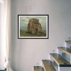 Ezposterprints - The Old Church Tower At Nuenen | Van Gogh Art Reproduction - 24x18 ambiance display photo sample