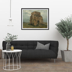 Ezposterprints - The Old Church Tower At Nuenen | Van Gogh Art Reproduction - 32x24 ambiance display photo sample