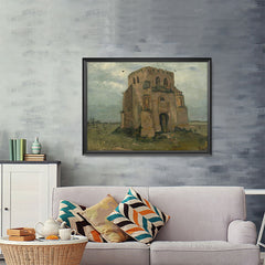 Ezposterprints - The Old Church Tower At Nuenen | Van Gogh Art Reproduction - 48x36 ambiance display photo sample