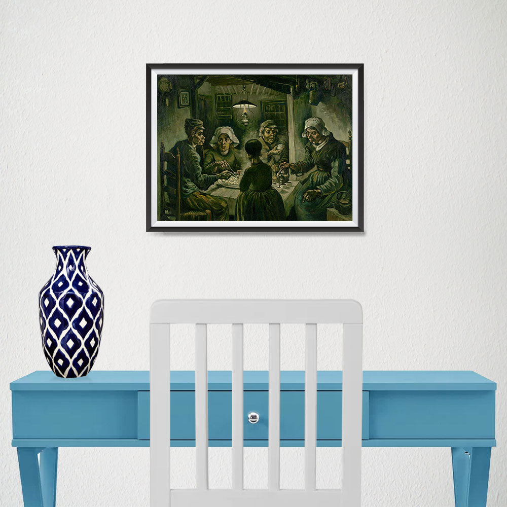 Ezposterprints - The Potato Eaters | Van Gogh Art Reproduction - 16x12 ambiance display photo sample