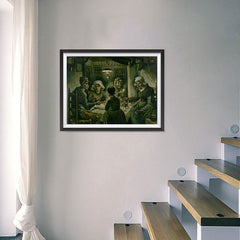 Ezposterprints - The Potato Eaters | Van Gogh Art Reproduction - 24x18 ambiance display photo sample