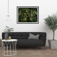 Ezposterprints - The Potato Eaters | Van Gogh Art Reproduction - 32x24 ambiance display photo sample