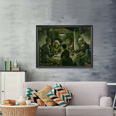 Ezposterprints - The Potato Eaters | Van Gogh Art Reproduction - 48x36 ambiance display photo sample