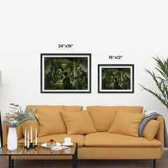 Ezposterprints - The Potato Eaters | Van Gogh Art Reproduction ambiance display photo sample