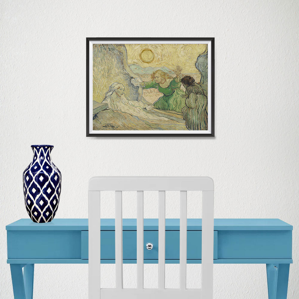 Ezposterprints - The Raising Of Lazarus | Van Gogh Art Reproduction - 16x12 ambiance display photo sample