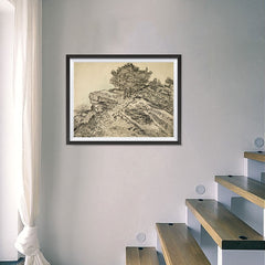 Ezposterprints - The Rock Of Montmajour With Pine Trees | Van Gogh Art Reproduction - 24x18 ambiance display photo sample